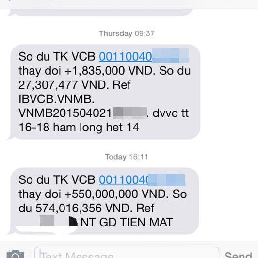 Cô gái được ngân hàng 'chuyển nhầm' 550 triệu vào tài khoản