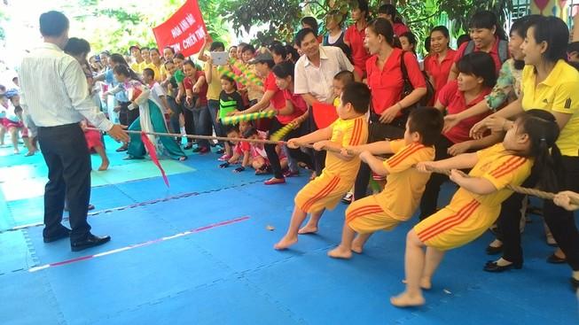 Lần đầu tiên tổ chức Hội thao dành cho trẻ mầm non 5 tuổi