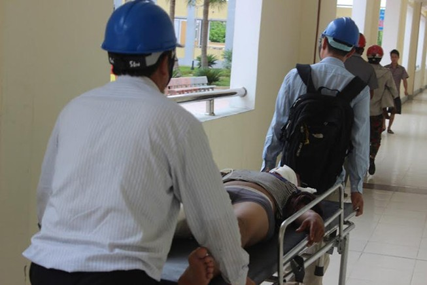 Lại sập giàn giáo ở Formosa, 1 người tử vong