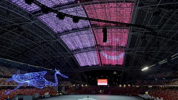 SEA Games Singapore: Hệ thống đèn chiếu laser hiện đại nhất thế giới