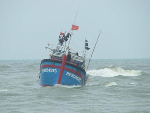 Tàu cá va chạm, 10 thuyền viên rơi xuống biển