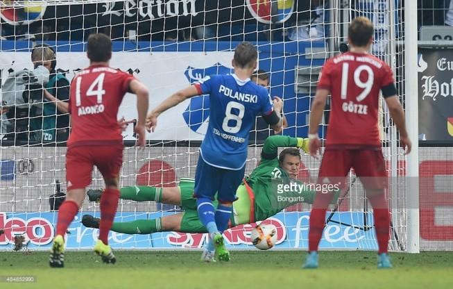 Hoffenheim-Bayern: 'Thoát chết' trong gang tấc