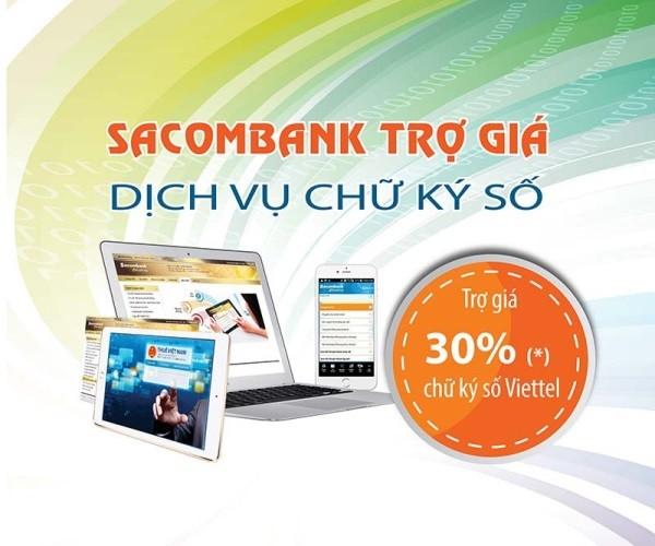 Sacombank ưu đãi đăng ký nộp thuế điện tử