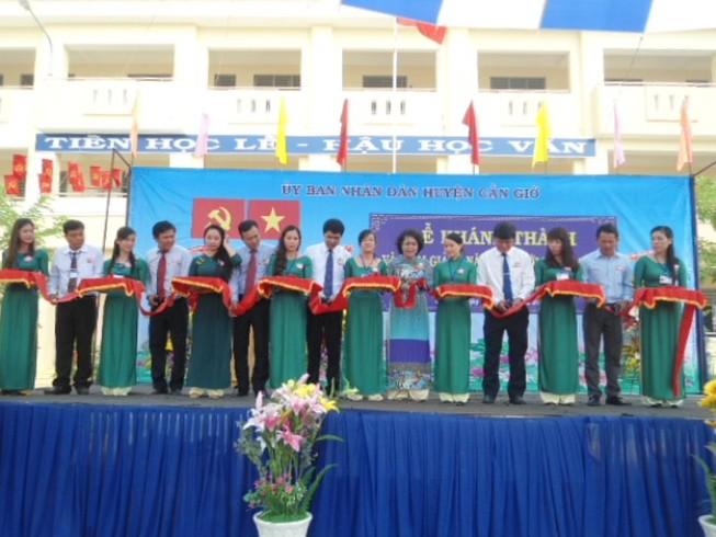 Xã nông thôn mới đầu tiên của Cần Giờ khánh thành trường học