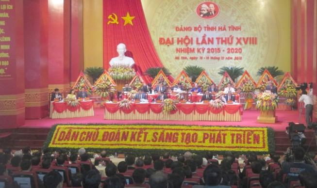 ĐH Đảng bộ Hà Tĩnh: Sớm đưa Vũng Áng trở thành trung tâm của khu vực