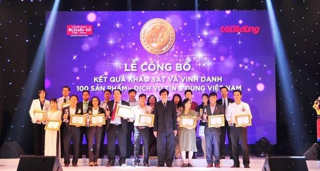 Vinamilk tiếp tục nhận giải thưởng Tin và dùng