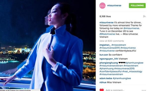 Gây sốt, Phạm Hương được quản lý tài khoản Instagram Hoa hậu Hoàn vũ