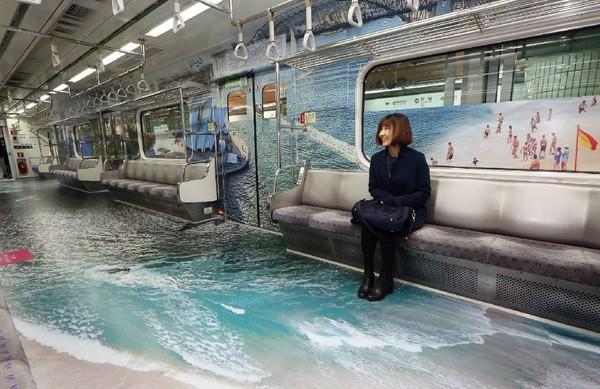 Hệ thống tàu điện ngầm Seoul đẹp có một không hai