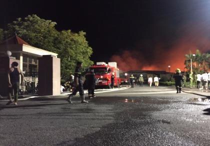 Cháy lớn tại cụm công nghiệp ở Hải Phòng không thiệt hại về người