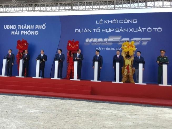 Khởi công nhà máy sản xuất ô tô lớn nhất Việt Nam