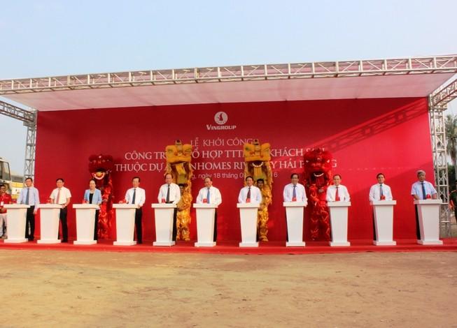 Thủ tướng tham dự lễ khởi công tòa tháp cao nhất vùng duyên hải Bắc Bộ