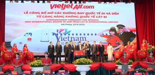 VietJet công bố hai đường bay Hải Phòng đi Hàn Quốc, Thái Lan