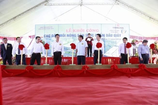 Khởi công xây chợ đầu mối nông sản sạch Dầu Giây  
