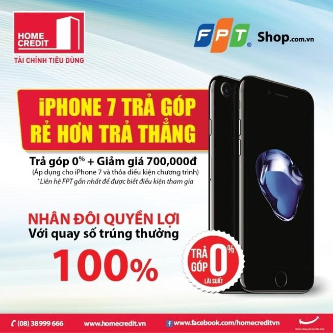 Mua trả góp iPhone 7 rẻ hơn trả thẳng