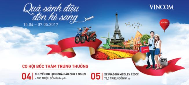 Vincom - điểm hẹn du lịch hè 2017