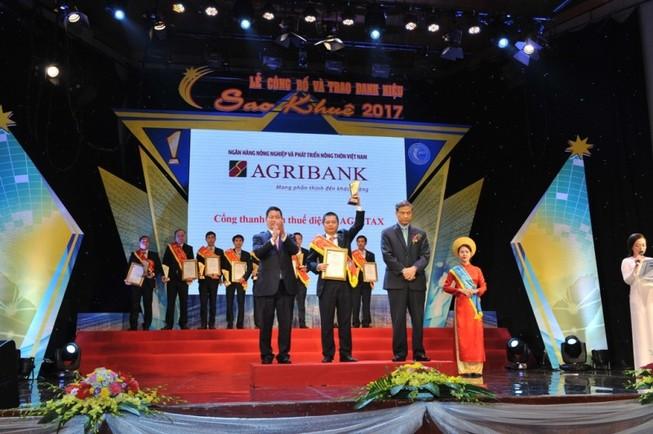 Agribank được vinh danh xuất sắc tại Sao Khuê 2017