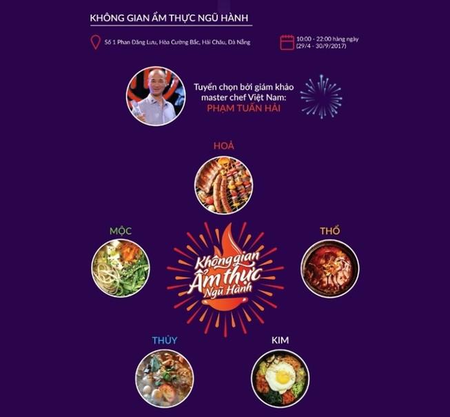 Đà Nẵng: Sắp mở cửa không gian ẩm thực Ngũ hành  