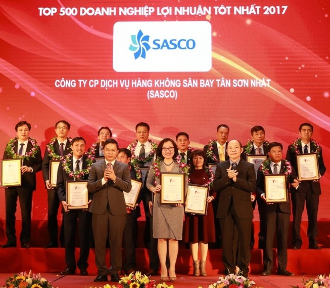 SASCO đạt Top 500 doanh nghiệp có lợi nhuận tốt nhất