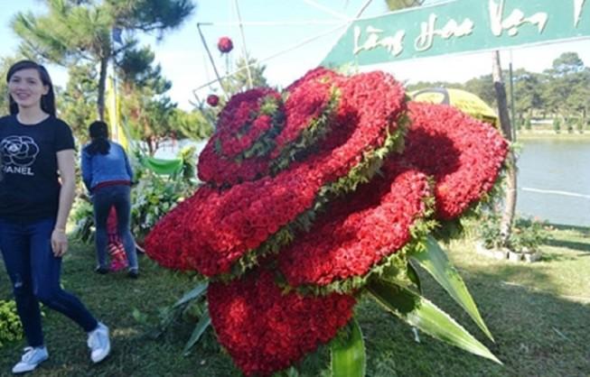 Bông hồng giá 25 triệu đồng tại Festival hoa Đà Lạt