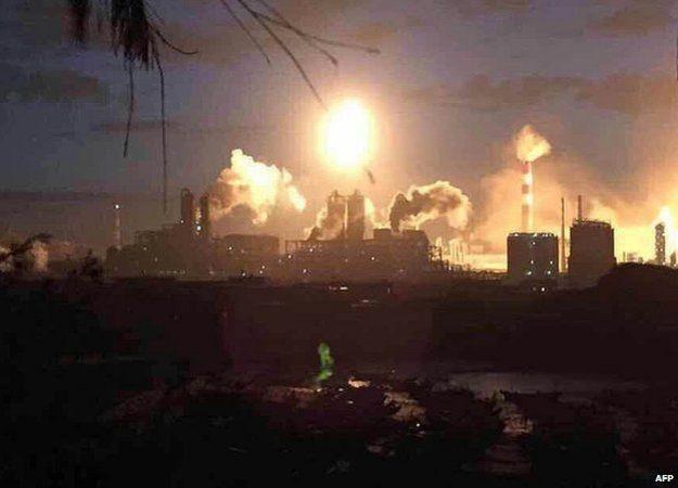 Nhà máy hóa học ở Trung Quốc phát nổ