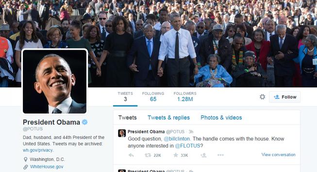 Twitter của Obama: Hơn 1 triệu người theo dõi trong vòng 5 giờ