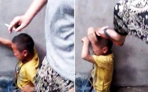 Bốn học sinh Trung Quốc 'bạo hành' một cậu bé bằng điếu thuốc