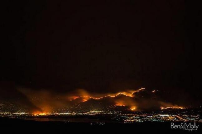 Cháy rừng trên diện rộng thiêu hủy 24 ngôi nhà