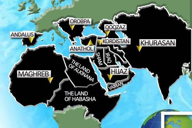 Bản đồ thống trị thế giới vào năm 2020 của IS