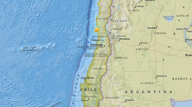 Chile lại xảy ra động đất mạnh 6,5 độ richter
