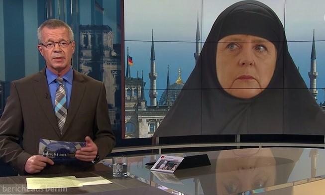 'Thủ tướng Đức mặc đồ Hồi giáo xuất hiện trên truyền hình' gây tranh cãi