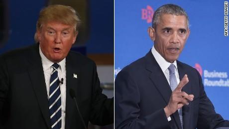 Donald Trump 'phản pháo' Tổng thống Obama