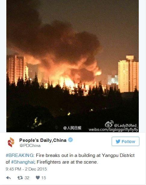 Trung Quốc: Cháy kinh hoàng tại chợ ở Thượng Hải