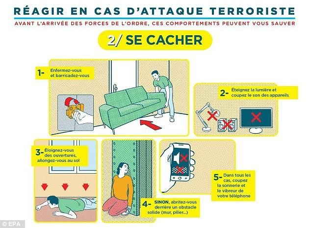 Pháp tung áp phích hướng dẫn người dân tránh khủng bố