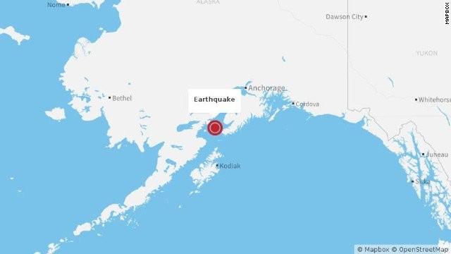 Mỹ: Động đất 7,1 độ Richter chấn động Alaska
