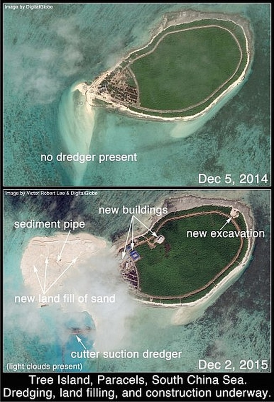 Phát hiện Trung Quốc xây căn cứ trực thăng trái phép ở Hoàng Sa