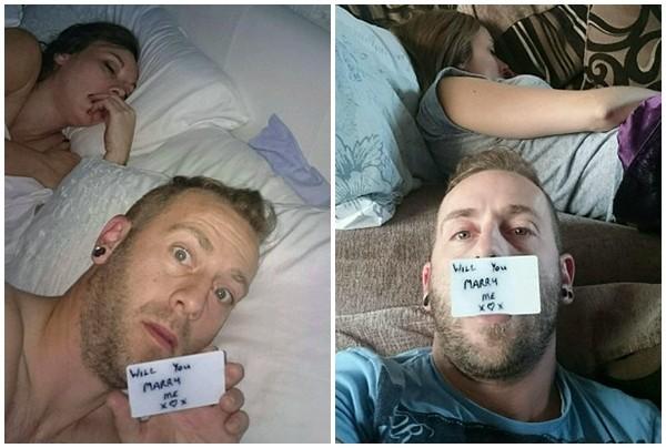 Cầu hôn bạn gái với hơn 150 bức ảnh selfie bí mật