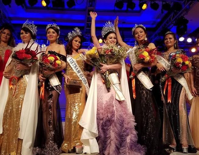 Janny Thủy Trần đăng quang Mrs. Globe VN International