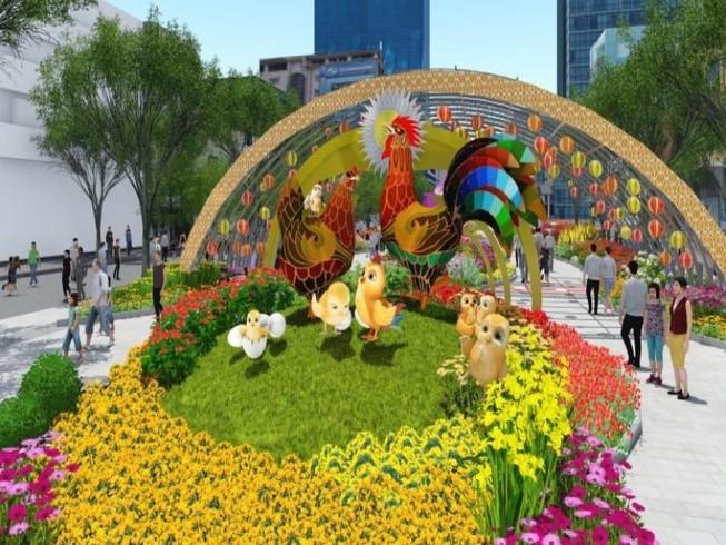 Đường hoa Nguyễn Huệ và lễ hội tết Đinh Dậu 2017
