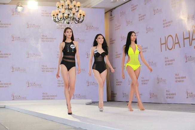 Thí sinh Hoa hậu Hoàn vũ VN khoe hình thể quyến rũ  