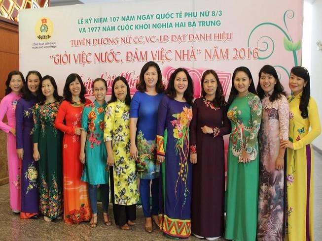 Tuyên dương 105 phụ nữ giỏi việc nước, đảm việc nhà