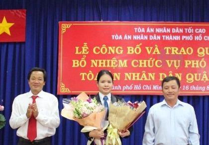 TP.HCM: Toà án quận Gò Vấp có thêm nữ phó chánh án
