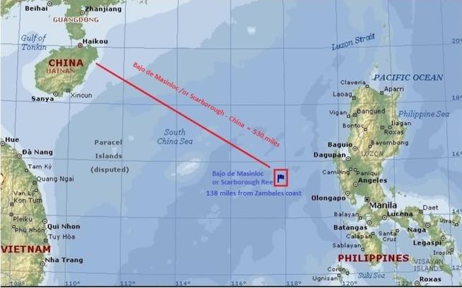 'Trung Quốc không được cải tạo bãi cạn Scarborough thành đảo'