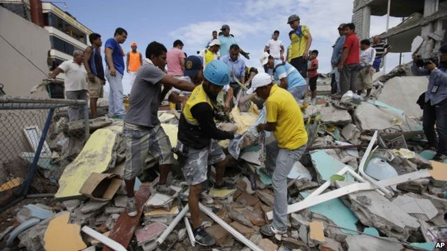 Động đất ở Ecuador: 272 người chết, hơn 2.500 người bị thương