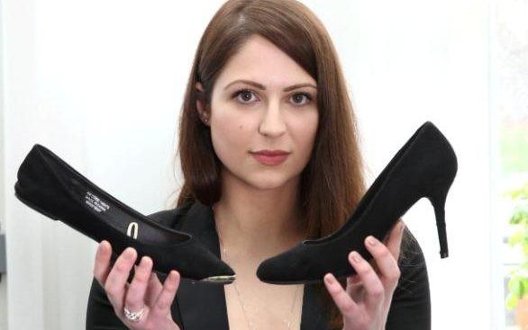 Kiện công ty vì bị bắt mang giày cao gót đi làm