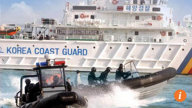 Hàn Quốc điều tàu đuổi tàu cá Trung Quốc đánh bắt trái phép