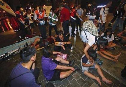 Tàu điện ngầm Đài Loan bị gài chất nổ, 25 người bị thương