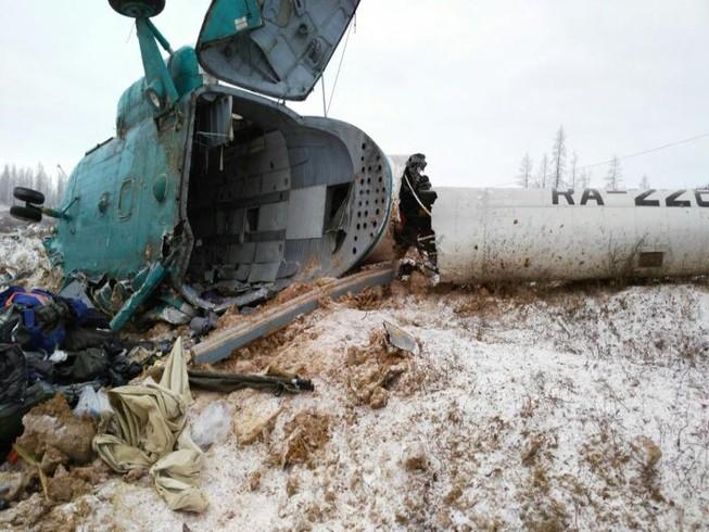 Trực thăng Nga rơi, 19 người chết