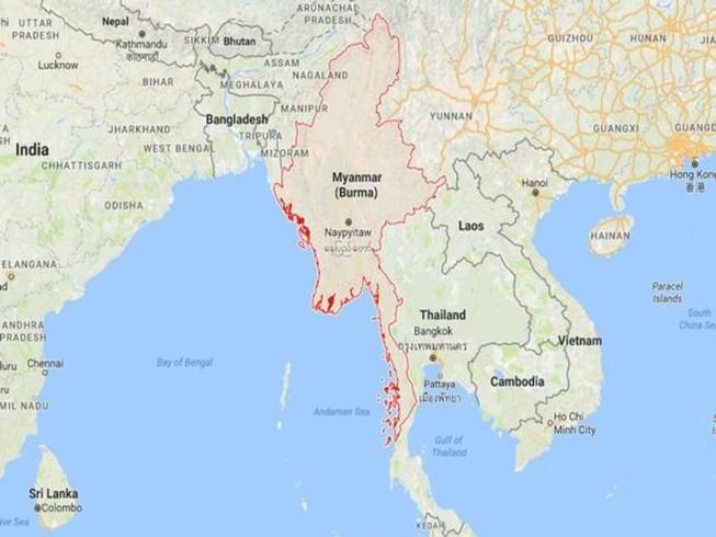 Myanmar: Không có chuyện máy bay rơi trên biển