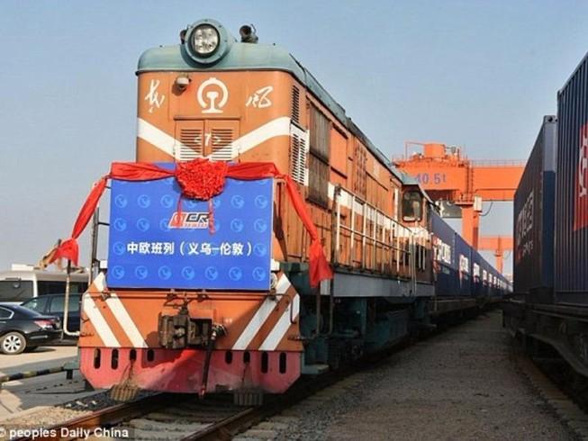 Trung Quốc khởi hành chuyến tàu lửa đầu tiên tới Anh