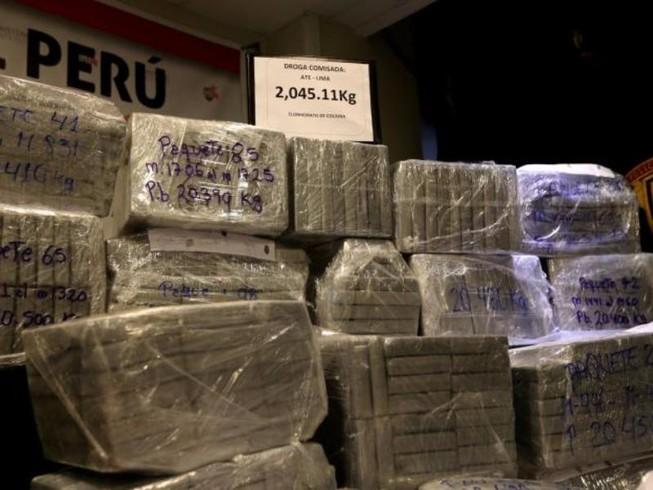 2 tấn cocaine bị bắt giữ ở Peru